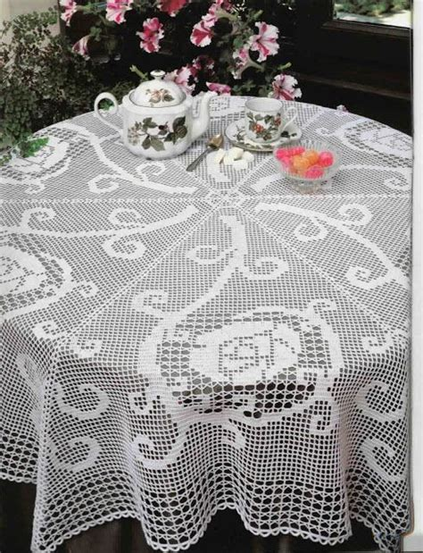 Crochet Motif Patterns For Tablecloth Part 5 How To Join crochet six part tablecloth in filet crochet free