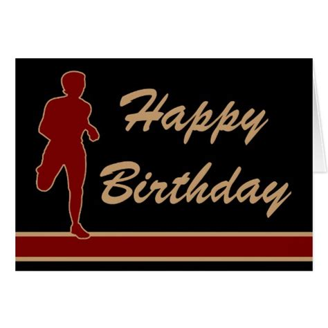 printable birthday cards for runners runner happy birthday card zazzle