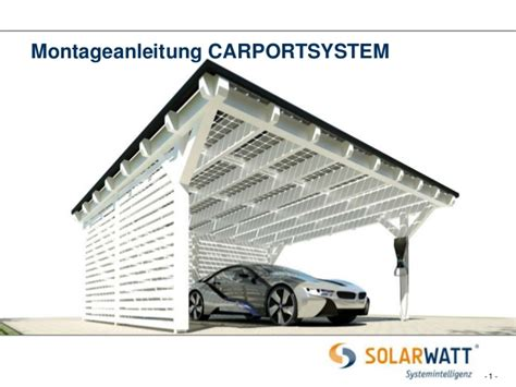 montageanleitung carport montageanleitung solarwatt carport system