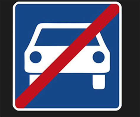 Was Ist Ein Auto by Verkehrszeichen Nr 331 Ende Der Schnellstra 223 E