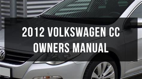 volkswagen cc owners manual  youtube