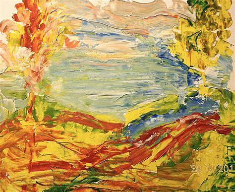 art dinca autumn colors painting by farfallina art gabriela dinca