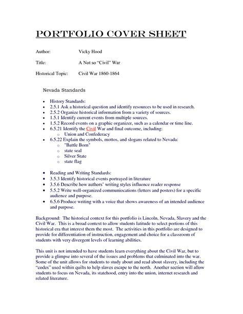 Nursing portfolio cover letter examples   drugerreport732