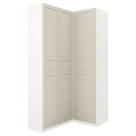 White Pax Wardrobe by Pax Corner Wardrobe White Flisberget Light Beige 160