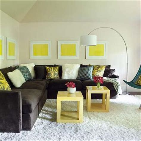 yellow and brown living room yellow and brown living room transitional living room