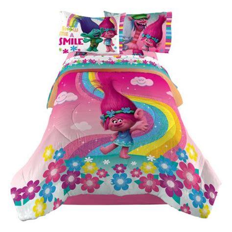 dreamworks trolls show me a smile twin/full comforter