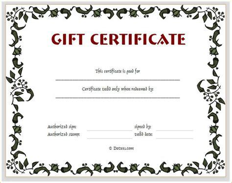 customizable certificate template gift certificate template free premium
