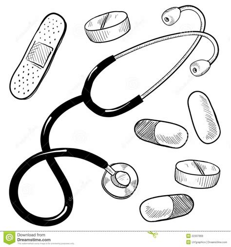 coloring page doctor tools doctor tools coloring pages doc mcstuffins medical