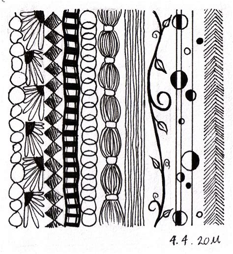 doodle pattern line not technically a zentangle but some great ideas for
