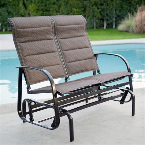 loveseat glider outdoor coral coast del rey padded sling outdoor glider loveseat