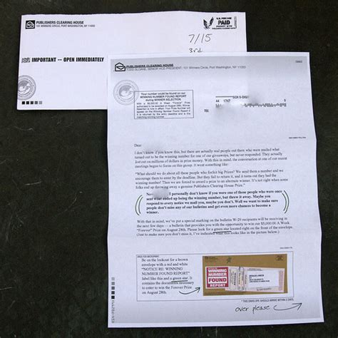 Publishers Clearing House Mail In Entry Form - how to opt out drowning in junk mail