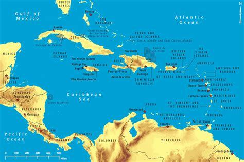 map of the carribean kartor karibien maps caribbean
