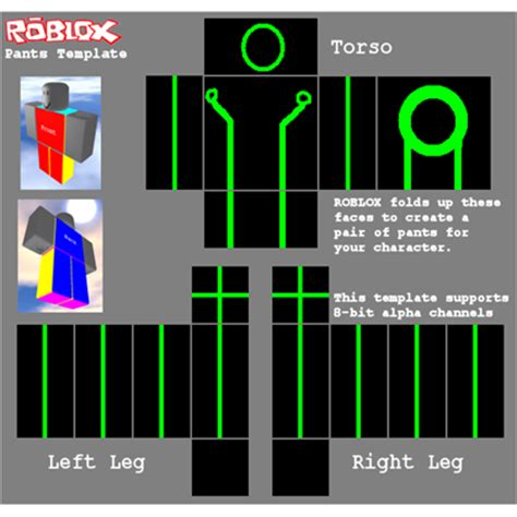 templates for roblox tron roblox pants template roblox