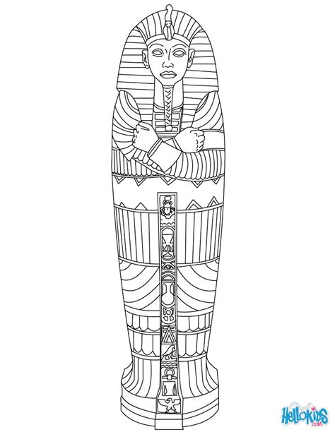 egyptian sarcophagus coloring pages hellokids com