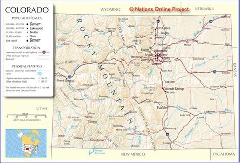 map of cities in colorado colorado cities map colorado us mappery