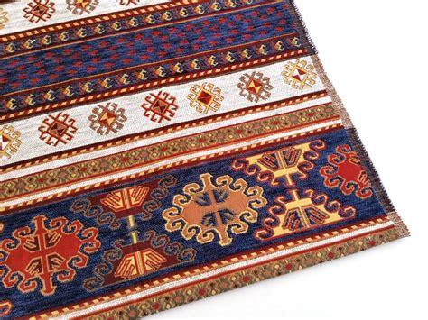 Bantal Sofa India Tribal Geometri ethnic tribal style chenille upholstery fabric aztec