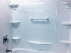 fiberglass shower can present a problem for grab bar
