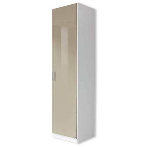 drehtürenschrank weiß wohnzimmer deko grau