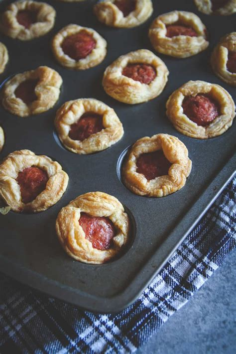 sausage puff pastry appetizer recipe sweetphi