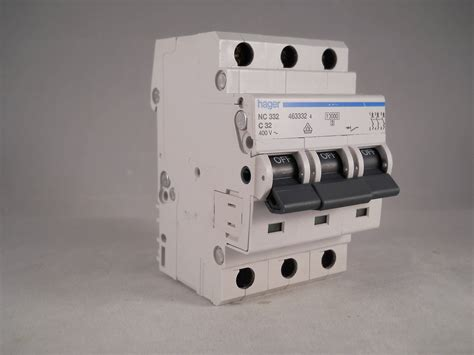 hager mcb 32 pole 3 phase circuit breaker type