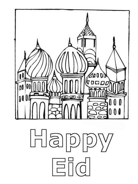eid coloring page for kids family holiday net guide to