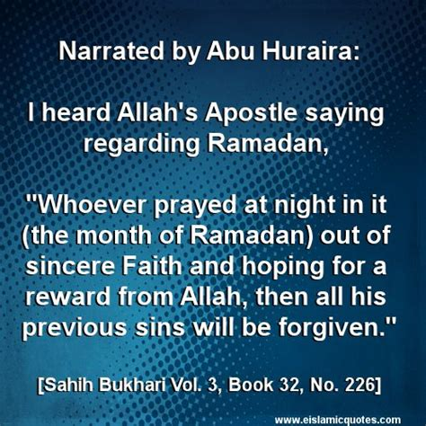 Ramadan Quotes Hadith On Ramadan Bukhari 32 226 E Islamic Quotes Http