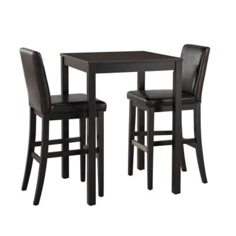 Nantucket Bistro Table Home Styles Nantucket 3 Black Wooden Bistro Table Set 5033 358 The Home Depot