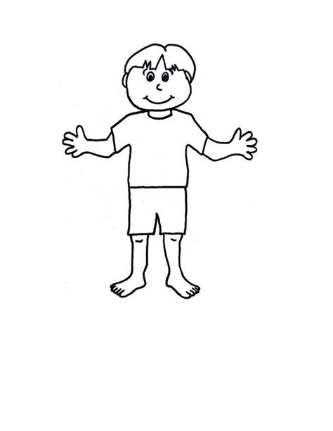 Paper Dolls With Clothes Craft N Home Boy And Template Free