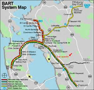 Bart Map East Bay by Americans Using Public Transit At Highest Level Since 1956