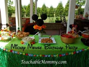 Table Skirt Ideas Mickey Mouse Clubhouse Luau Birthday Party Teachable Mommy
