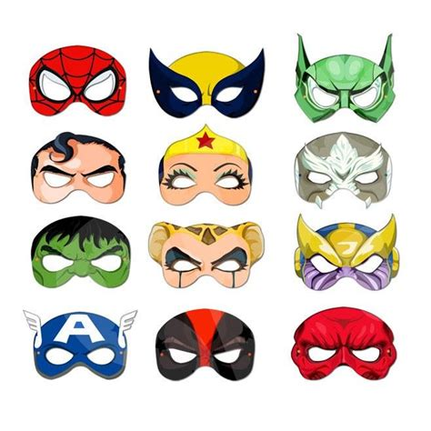 printable mask avengers printable masks super heroes and villains collection 1