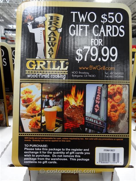 Broadway Gift Cards - gift cards broadway grill