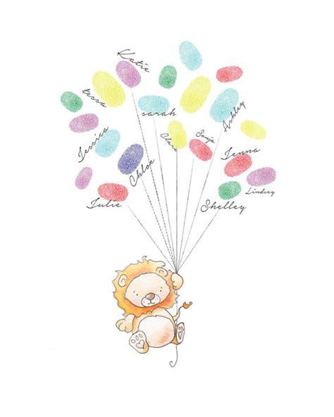 Baby Shower Fingerprint by Baby Shower Fingerprint Balloons Baby By