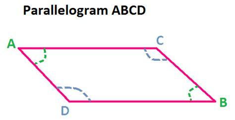 parallelogram diagram opposite angles of parallelogram at algebra den