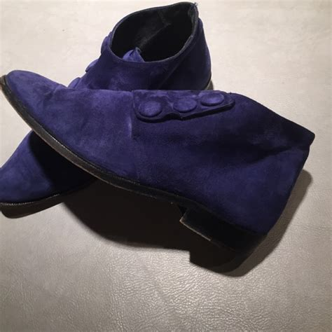 maraolo maraolo royal blue suede ankle boots from