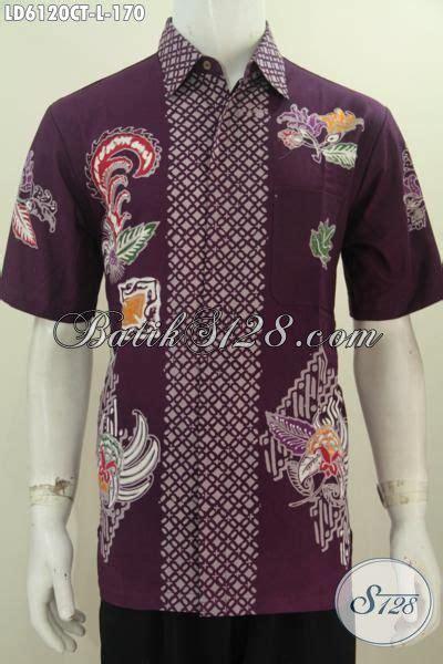 Kemeja Motif Bunga By Bajukipa jual kemeja batik ungu untuk pria ukuran l hem batik