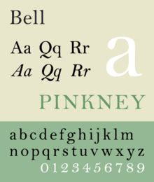bell (typeface) wikipedia