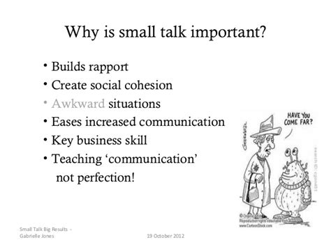 7 Worst Smalltalk Topics by Small Talk Presentation Eltau 2012