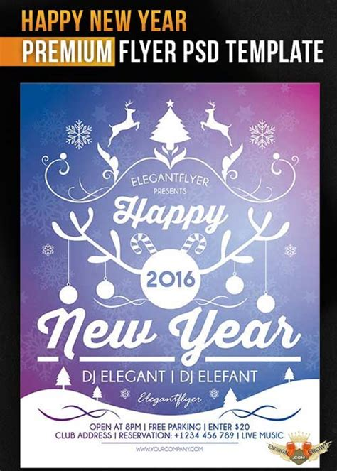 new year flyer design happy new year flyer psd template cover