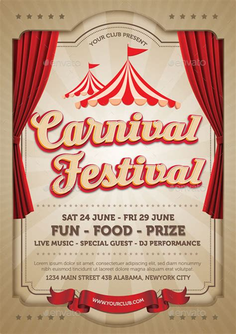 template flyer carnival top 30 best carnival flyer templates 2017 download psd