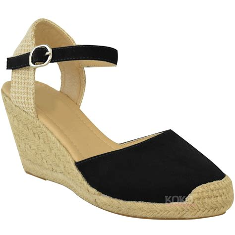 Sandal Wedges Wg15 1 new womens summer espadrilles strappy low wedges sandals shoes size 3 8