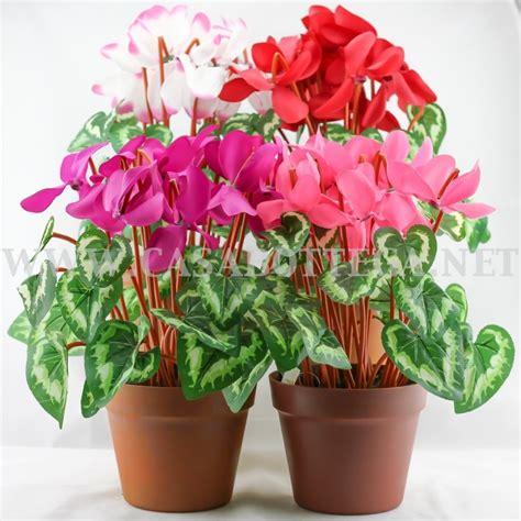ciclamini in vaso fiori finti cicalmini