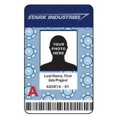 stark industries business card it s a paper to work for this custom novelty id