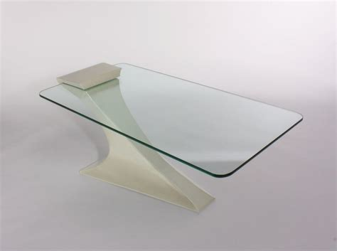 ultra modern coffee table with one cantilever leg
