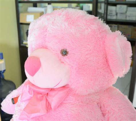 Boneka Pink Pita jual boneka teddy pita pink besar jumbo 100 cm sni shoptania