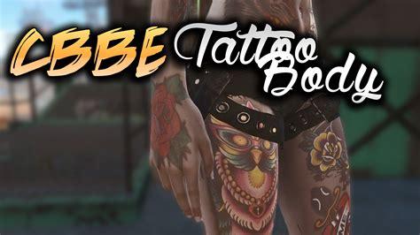 neck tattoo fallout 4 cbbe tattoo body fo4 mod download