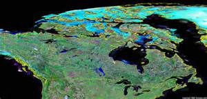 satellite map of canada canada map and satellite image