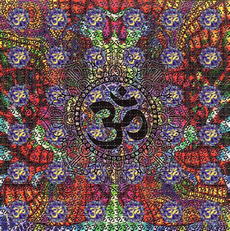 the pattern you see on acid ohm perforated sheet book blotter art psychedelic acid lsd