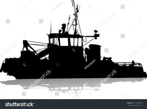 tow boat us logo silhouette sea towboat ship stock vector 137610194