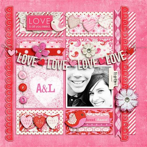 Valentines Scrapbooking Idea by 96 Best S Layouts Images On